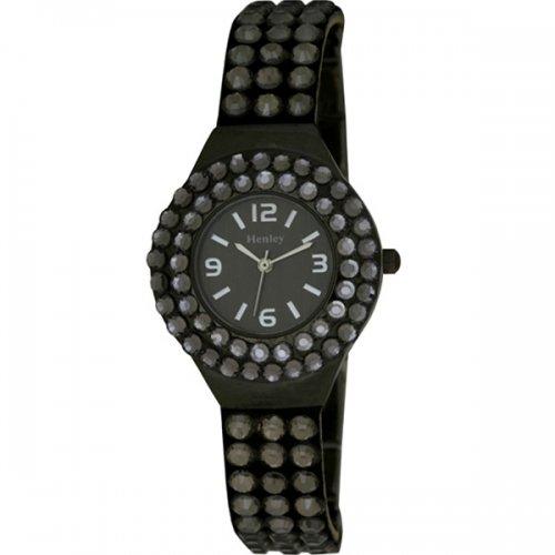 Henley Henley Ladies Cluster Set Combination Watch Analog Edelstahl beschichtet Weiss H07166 3