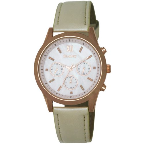 Henley Henley Ladies Rose Gold Fashion Watch Analog Kunststoff violett H06066 4