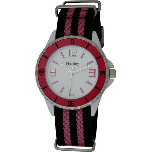 Henley Henley Summer Nylon Strap Fashion Watch Analog nylon mehrfarbig H0883 5