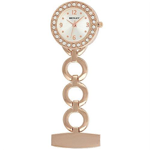 Henley Damen Fashion Schmuck Taschenuhr Rose Gold hf02 44
