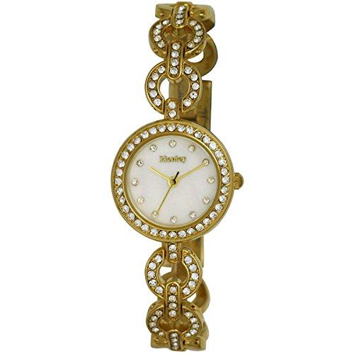 Henley Damen Poliert Gold Fall und Armband Set mit 60 mit Kristallen h07236 2
