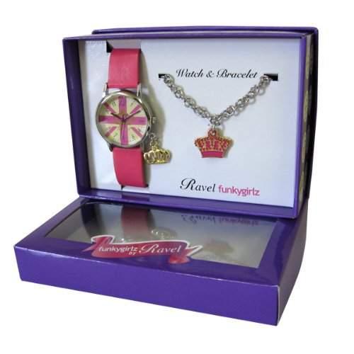 RAVEL Maedchen-Armbanduhr Funkygirlz Analog Kunststoff pink R3303