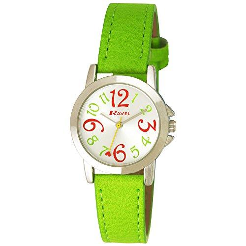 Ravel Maedchen Armbanduhr Ravel Girls Funky Fashion Watch Analog Plastik Gruen R0126 11 2