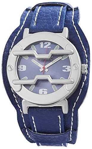 Flair Damenuhr mit Lederimitationarmband Blau Armbanduhr Uhr 100323000050