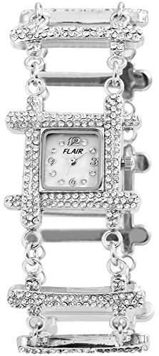 Flair Damenuhr mit Metallarmband silberfarbig Armbanduhr Uhr 100422500045