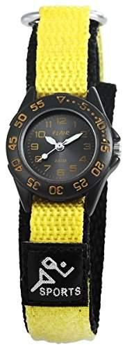 Flair Damenuhr mit Textilklettband Anthrazit Armbanduhr Uhr 100571000002