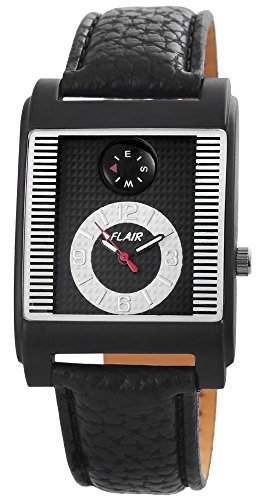 Herrenuhr mit Lederimitationarmband Schwarz Armbanduhr Uhr 200321000050
