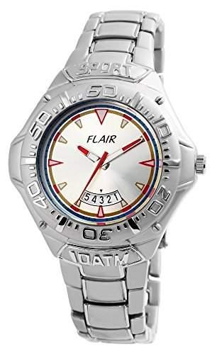Flair Herrenuhr mit Metallarmband silberfarbig Armbanduhr Uhr 200422500003