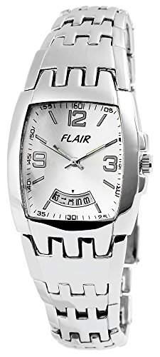 Flair Herrenuhr mit Metallarmband silberfarbig Armbanduhr Uhr 200422500005
