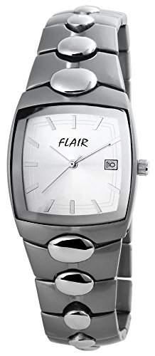 Flair Herrenuhr mit Metallarmband silberfarbig Armbanduhr Uhr 200472500022