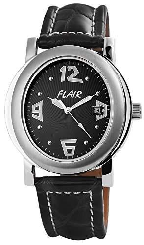Herrenuhr mit Echtlederarmband Schwarz Armbanduhr Uhr 200721000025