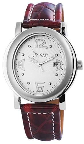 Herrenuhr mit Echtlederarmband silberfarbig Armbanduhr Uhr 200722000025