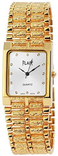 Flair Unisexuhr mit Metallarmband Armbanduhr Uhr silberfarbig 100402500129