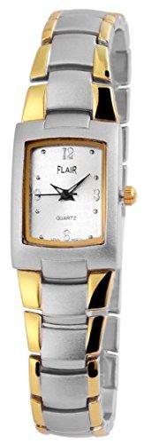 Flair Damenuhr mit Metallarmband Armbanduhr Uhr silberfarbig 100412500183