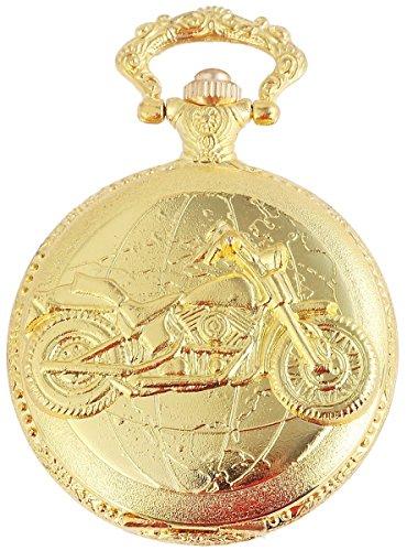 Flair Taschenuhr Chopper Motorrad Goldfarbend Uhr 480802000095