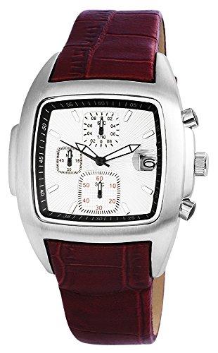 Chronograph Uhr watch Armbanduhr mit Echtlederarmband 200322500019