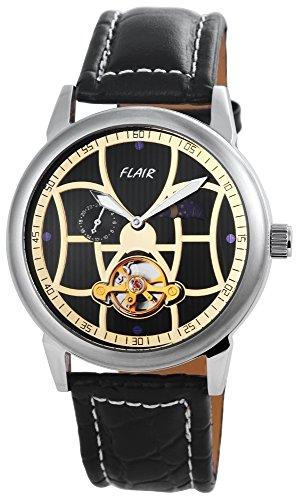 mit Echtlederarmband Schwarz Armbanduhr Uhr 200921000005