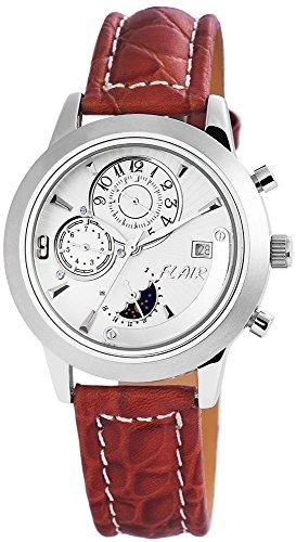 mit Echtlederarmband silberfarbig Armbanduhr Uhr 200922000014