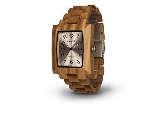 LAiMER Holzuhr 0015 | 100% Sandelholz | Naturprodukt | Suedtirol |