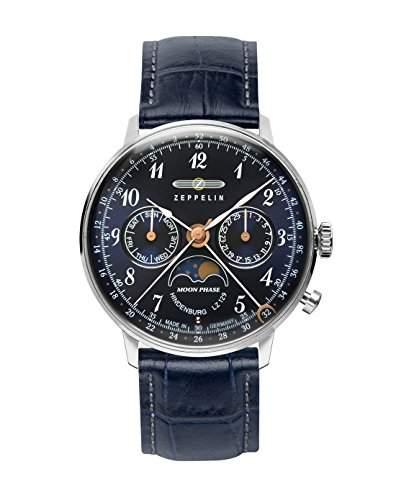 Zeppelin Unisex-Armbanduhr Chronograph Quarz Leder 7037-3