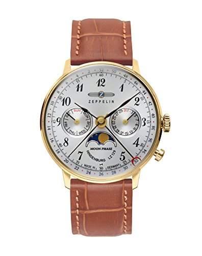Zeppelin Unisex-Armbanduhr Chronograph Quarz Leder 7039-1