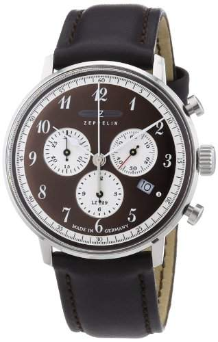 Zeppelin Unisex-Armbanduhr Chronograph Quarz Leder 7086-5