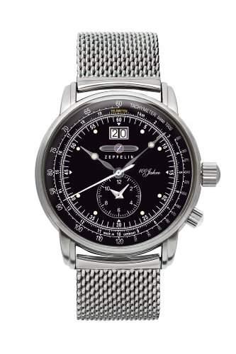 Zeppelin Unisex-Armbanduhr Chronograph Quarz Edelstahl 7640M-2