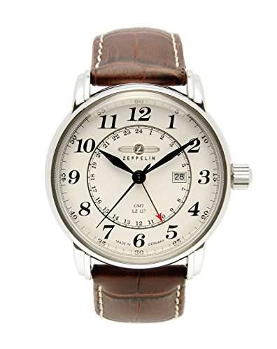 Zeppelin Unisex-Armbanduhr Chronograph Quarz Leder 7642-5