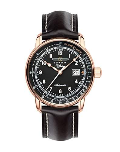 Zeppelin Unisex-Armbanduhr Chronograph Quarz Leder 7654-2