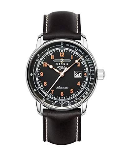 Zeppelin Unisex-Armbanduhr Chronograph Quarz Leder 7654-5