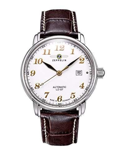 Zeppelin Unisex-Armbanduhr Chronograph Quarz Leder 7656-1