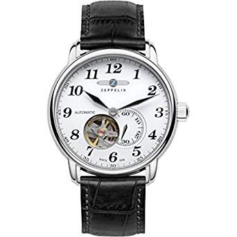 Zeppelin Unisex-Armbanduhr Chronograph Quarz Leder 7666-1