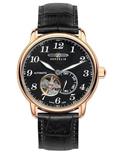 Zeppelin Unisex-Armbanduhr Chronograph Quarz Leder 7668-2