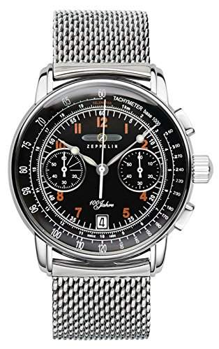 Zeppelin Unisex-Armbanduhr Chronograph Quarz Leder 7674M-2