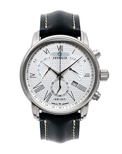 Zeppelin Unisex-Armbanduhr Chronograph Quarz Leder 7682-4