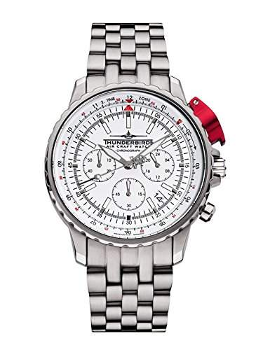 -Thunderbirds Watches -FightingSteelPro White 105202-02-S52