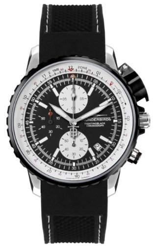 Thunderbirds - FightingBlack Steel - Chronograph - Silikonband - Ref TB1057-01-K01