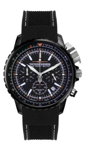 Thunderbirds - FalconPro - Chronograph - Black IP - Silikonband - Ref TB1078-SK01