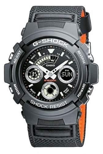 Casio Herren Armbanduhr G-Shock Textil Aw-591Ms-1Aer