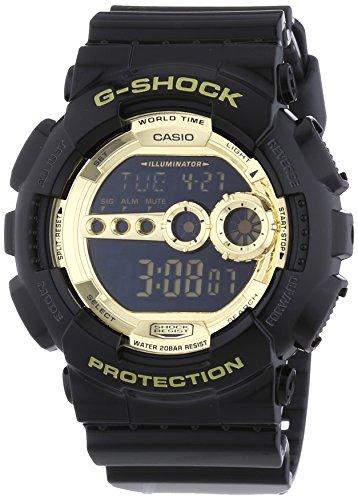 Casio G Shock Digital Quarz Schwarz Gold GD 100GB 1ER