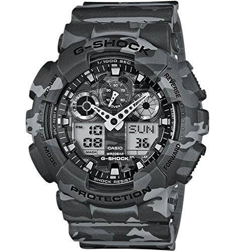Casio Herren Analog Digital Quarz mit Resin Armbanduhr GA 100CM 8AER