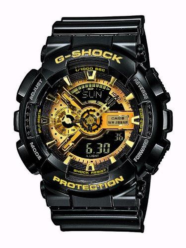 Casio Herren Analog Digital Quarz mit Resin Armbanduhr GA110GB1AER