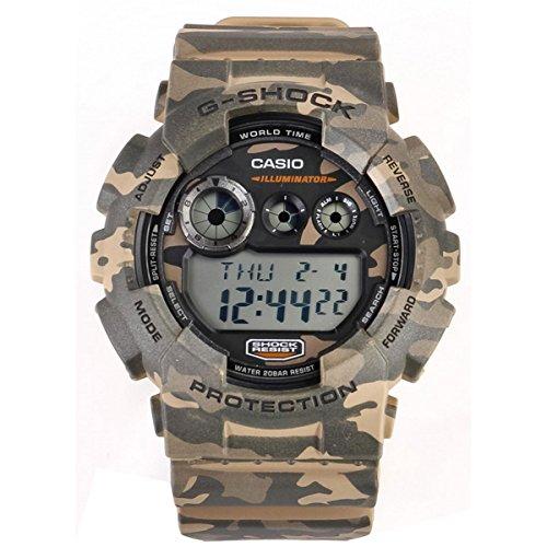 Casio Herren Digital mit Resin Armbanduhr GD120CM5ER