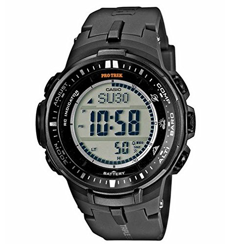 Casio Herren Digital mit Resin Armbanduhr PRW30001ER