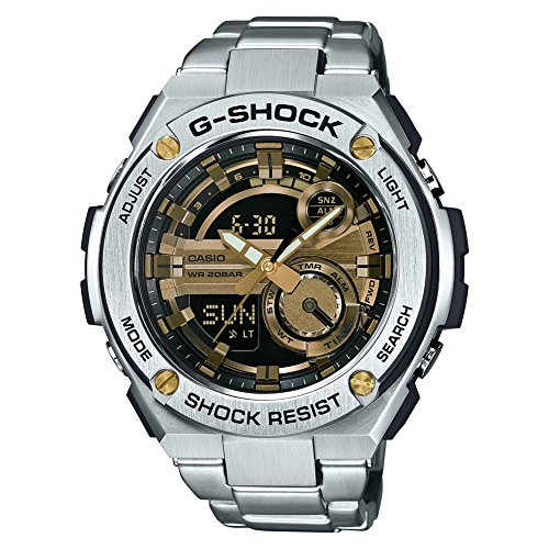 Casio Herren MultiZifferblatt Quarz mit Edelstahl Armbanduhr GST210D9AER