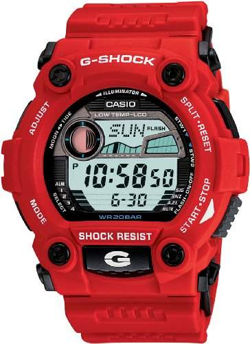 Casio G7900A-4 Mens G-Shock Rescue Red Digital Sport Watch