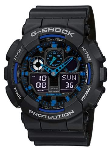 Casio G-Shock Herren-Armbanduhr Anaolg Digital Quarz GA-100-1A2ER