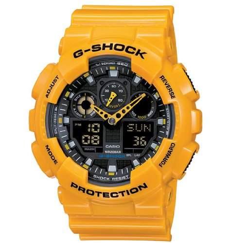 Casio G-Shock Herren-Armbanduhr Anaolg Digital Quarz GA-100A-9AER