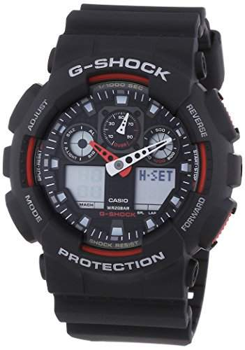 Casio Herren Armbanduhr G-Shock AnaolgDigital Quarz Ga-100-1A4Er