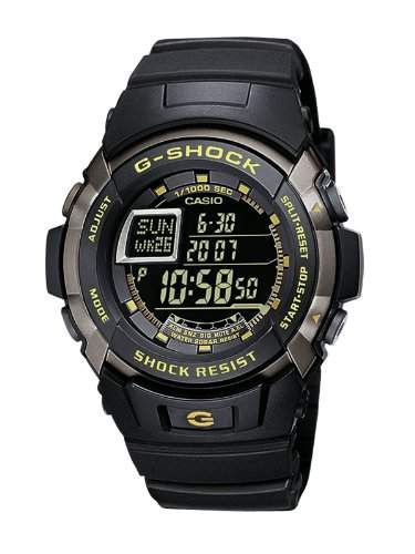 Casio Herren Armbanduhr G-Shock Digital Quarz Schwarz Resin G-7710-1ER